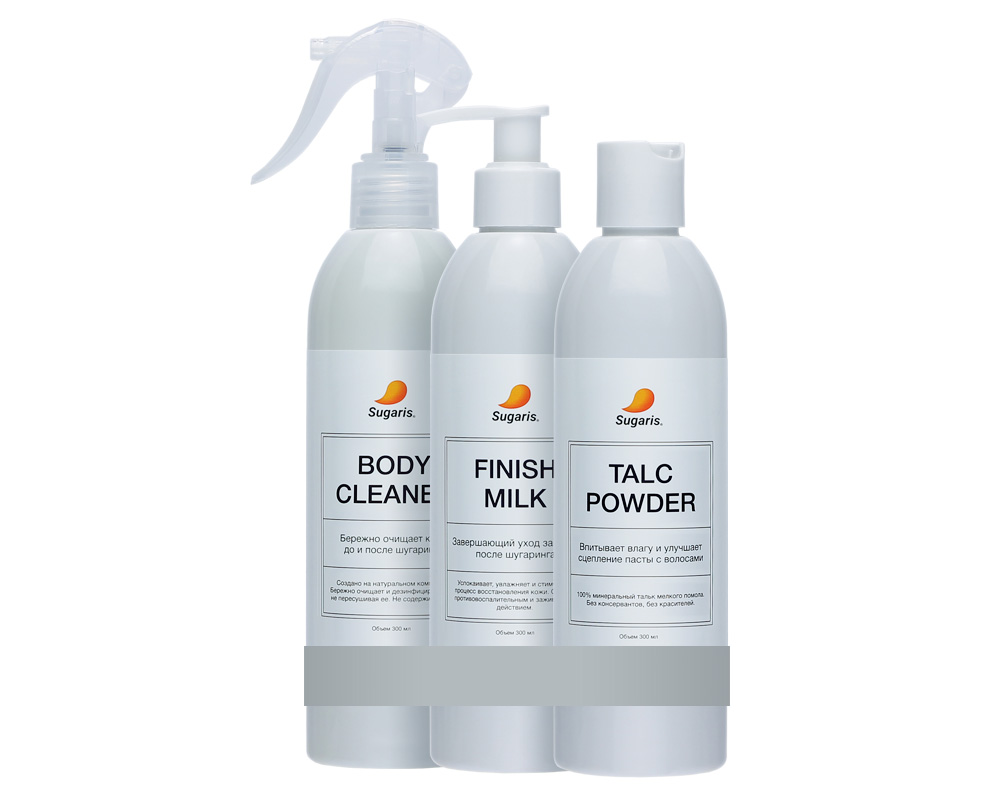 Body Cleaner & Finish Milk & Talc Powder